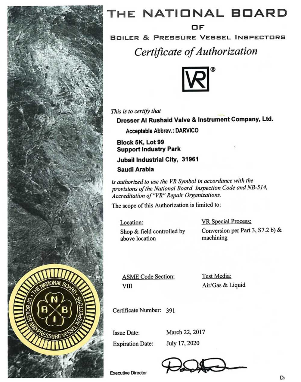 Darvico - Quality - company certification